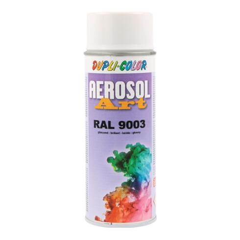 Buntlackspray AEROSOL Art signalweiß glänzend RAL 9003 400 ml Spraydose