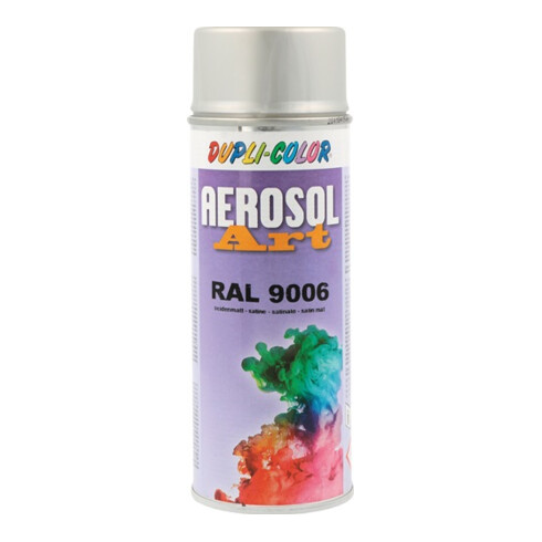 Buntlackspray AEROSOL Art weißalu.seidenmatt RAL 9006 400 ml Spraydose