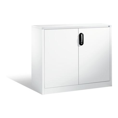 C+P Akten-Sideboard Acurado mit Drehtüren, 2 Ordnerhöhen, H1000xB1200xT400mm Front Reinweiß Korpus Reinweiß