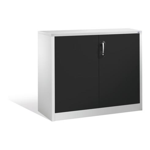 C+P Akten-Sideboard Acurado mit Drehtüren, 2 Ordnerhöhen, H1000xB1200xT400mm Front Schwarzgrau Korpus Lichtgrau