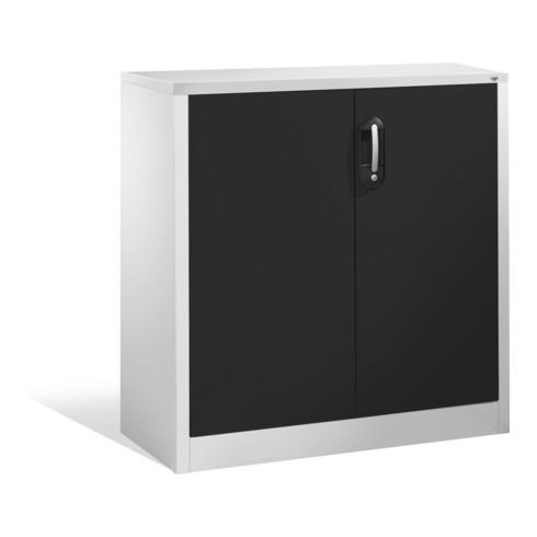 C+P Akten-Sideboard Acurado mit Drehtüren, 2 Ordnerhöhen, H1000xB930xT400mm Front Schwarzgrau Korpus Lichtgrau