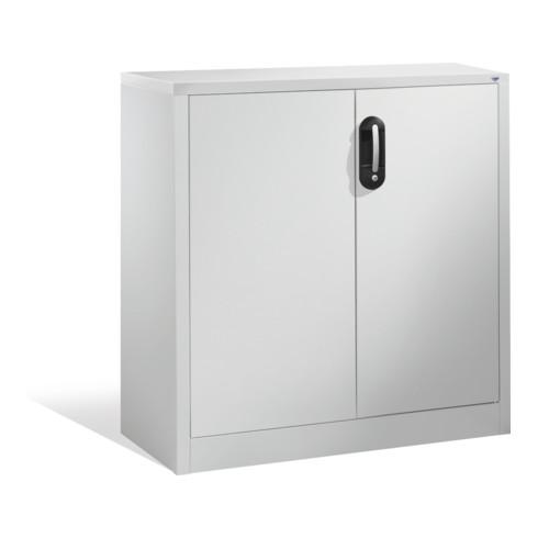C+P Akten-Sideboard Acurado mit Drehtüren, 2 Ordnerhöhen, H1000xB930xT400mm Weißaluminium