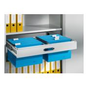 C+P Hängerahmen für Hefter DIN A4, für Aktenschrank mit Drehtüren B930xT500mm Farbe Lichtgrau
