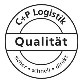 C+P Umkleidespind Classic auf Sockel 2 Abteile Front Enzianblau Korpus Lichtgrau