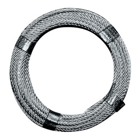 Câble en acier D. 5,0 mm L. 100 m 6 x 12 + 1 FE charge de rupture min 9,19 kN ac