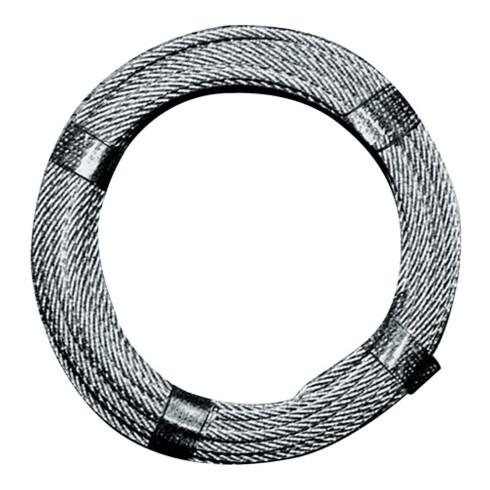 Câble en acier D. 6,0 mm L. 80 m 6 x 12 + 1 FE charge de rupture min 13,24 kN ac