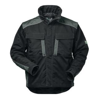 Canvas Outdoorjacke 2 in 1 Basel Gr. L schwarz/grau 65% PES/35% CO Feldtmann