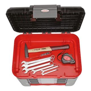 Carolus Werkzeugbox + Universalsatz SCHRAUBER, 57-tlg