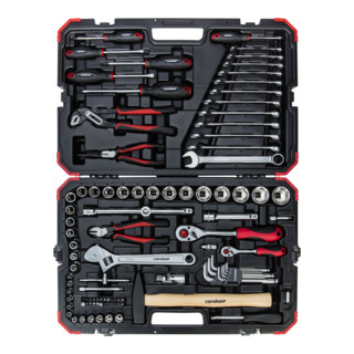 Carolus Werkzeugkoffer + Steckschlüsselsatz 1/4'' 1/2'' 100-teilig