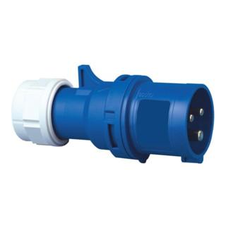 CEE Stecker 16A 230V 3polig IP44 blau