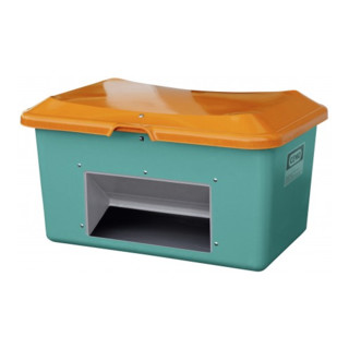 Cemo Streugutbehälter Plus3 mit Entnahme grün/orange