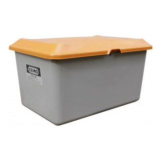 Cemo Streugutbehälter Plus3 400 Liter ohne Entnahme grau/orange