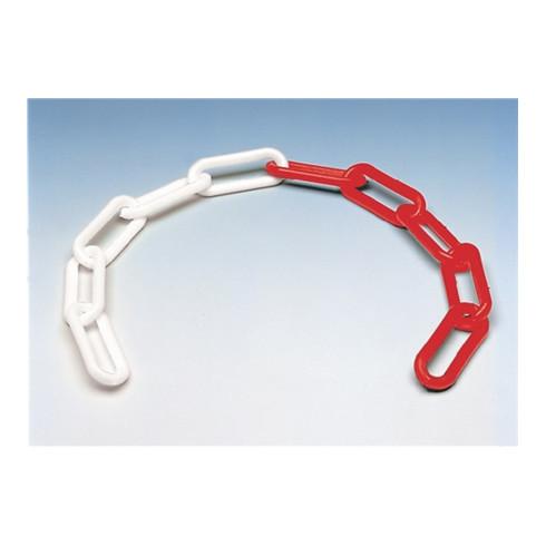 Chaîne de signalisation iqs plastique rouge/blanc 6 mm longueur 30 m