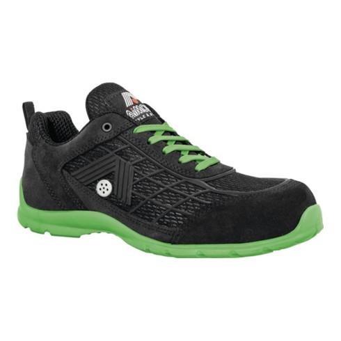 Chaussure de sécurité Green taille 42 noir/vert cuir velours S1P SRC EN ISO 2034