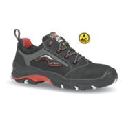 Chaussure de sécurité Master T. 43 noir/rouge cuir nubuck S3 SRC ESD EN ISO 2034