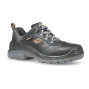 Chaussure de sécurité Solid T. 43 noir cuir pleine fleur / Cordura S3 SRC EN ISO
