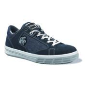 Chaussure de sécurité Trophy T. 43 bleu cuir velours / matériau textile S1P SRC