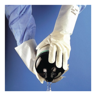 Chemiehandschuh Barrier 02-100 Gr.9 weiß EN 374 Kat.III Ansell