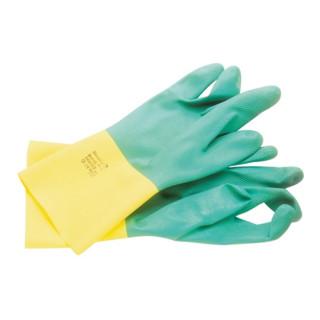 Chemiehandschuh Bi-Colour 87-900 Gr.7,5-8 grün/gelb EN 388,EN 374,EN 421 Kat.III