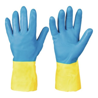 Chemiehandschuh Kenora Gr.10 blau/gelb EN 388,EN 374 Kat.III
