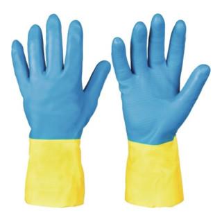 Chemiehandschuh Kenora Gr.8 blau/gelb EN 388,EN 374 Kat.III