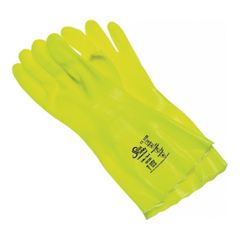 Chemiehandschuh Solid Safety ChemP Gr.9 gelb EN 388,EN 374 Kat.III AMPRI