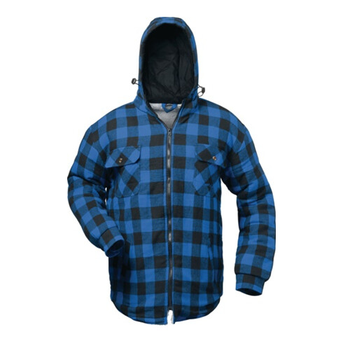 Chemise thermolactyl Alberta taille XXL bleu/noir à carreaux 100 % CO/fourrure t