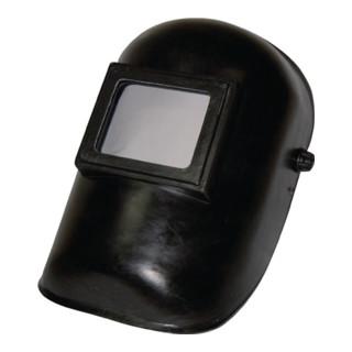 Clapet de casque de protect. de soudage avec verre DIN-9 et écran ext. 90 x 110