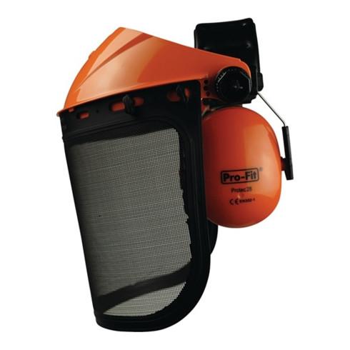 Combinaison de protect.faciale/auditive Forst Visière réticulée EN 1731/F, EN 35