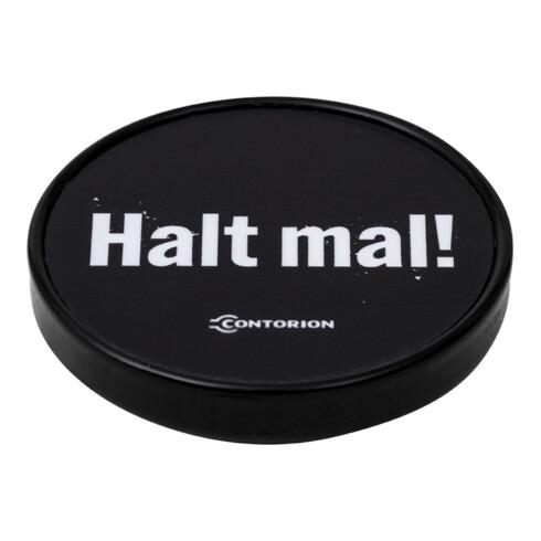"""Contorion Magnet-Clip """"Halt mal!"""", schwarz, Ø 6,7 cm"""
