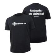 """Contorion T-Shirt schwarz """"Handwerker und stolz drauf"""""""