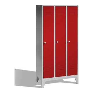 CP Garderobenschrank Classic auf Füßen, 3 Abteile