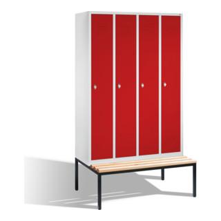 CP Garderobenschrank Classic auf Sitzbank, 4 Abteile