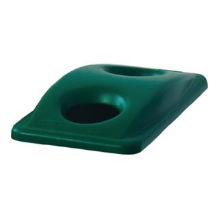 Deckel für Wertstoffsammler grün f.Flascheneinwurf H70xB290xT520mm