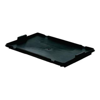 Deckel schwarz L.600xB.400mm f.Drehstapelbehälter H.250mm PP LA-KA-PE