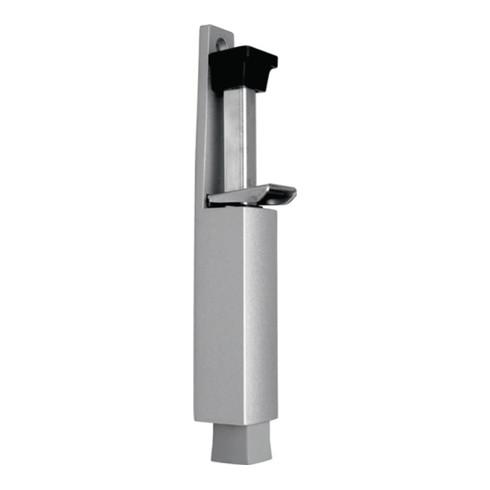 DENI Türfeststeller 3837 0060 22 Zinkdruckg. silber lack. Hubh. 60mm Türmontage