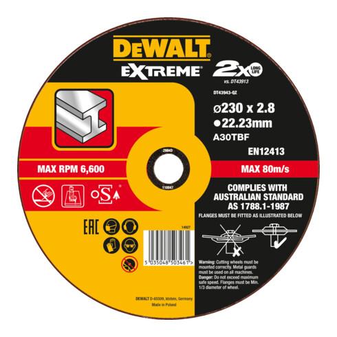 DeWalt Extreme Trennscheibe Metall gekröpft 2.8 mm