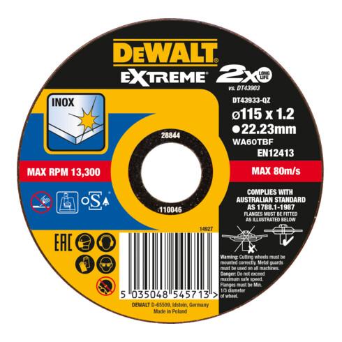 DeWalt Trennscheibe Edelstahl flach 115x1,2mm