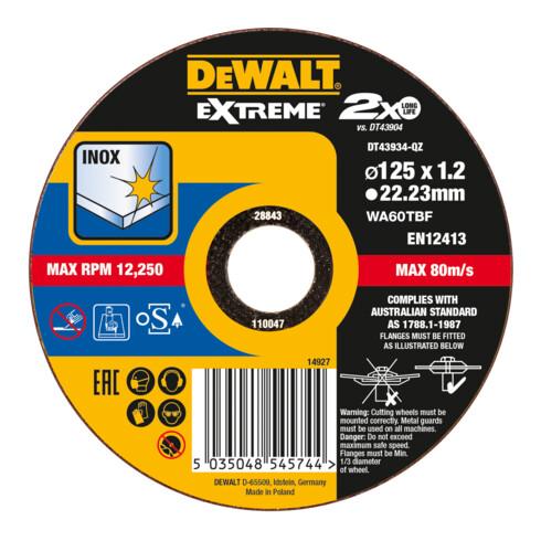 DeWalt Trennscheibe Edelstahl flach 125x1,2mm