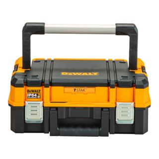 DeWalt TSTAK I Robuste und kompakte Werkzeugbox mit IP54 Schutz und Schaumstoffeinlage (27l Volumen)