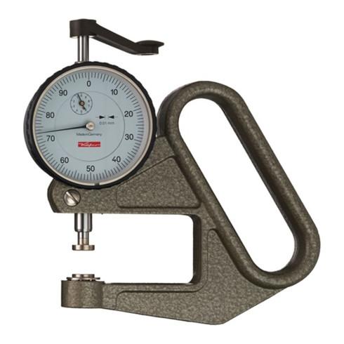 Dickenmessgerät J 50 0-10mm Abl. 0,01mm fl. 10=cmm Käfer