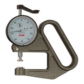 Dickenmessgerät J 50 0-10mm Abl. 0,01mm fl. 10=cmm m. Kal. Käfer