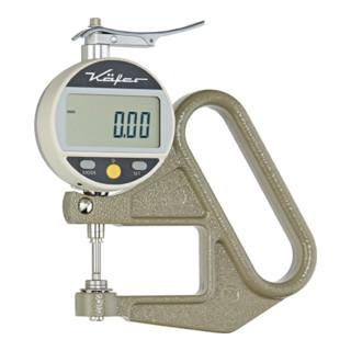 Dickenmessgerät JD 50 0-10mm Abl. 0,01mm dig. fla. 10=cmm m. Kal. Käfer