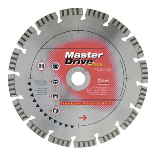 Diewe Diamanttrennscheibe Master Drive Turbo Ø 125 Bohrung 22,23