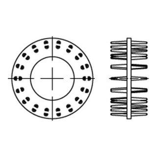 DIN 1052 Blechdorn-Holzverbinder Typ D zweiseitig