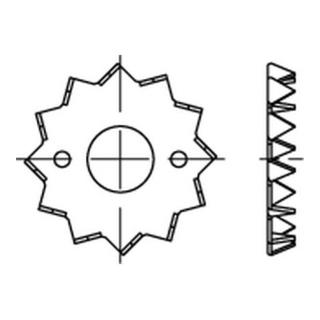 DIN 1052 Holzverb. Blechdorne Typ C, tZn, eins., 62 f.M 12 ÜH tZn S