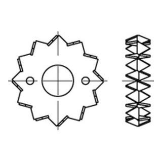 DIN 1052 Holzverb. Blechdorne Typ C, tZn, zweis., 62 ÜH tZn S
