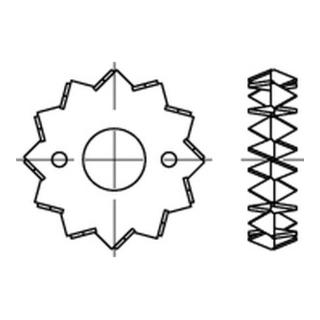 DIN 1052 Holzverb. Blechdorne Typ C, tZn, zweis., 75 ÜH tZn S