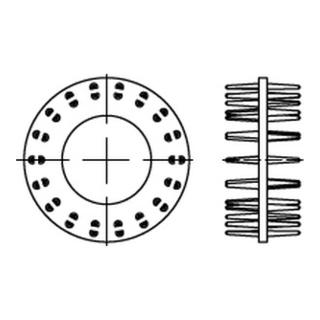 DIN 1052 Holzverbinder GT Typ D, gal Zn, zweis., 95 ÜH gal Zn S