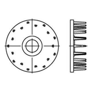 DIN 1052 Holzverbinder Temperg Typ D, gal Zn, eins., 115 ÜH gal Zn S